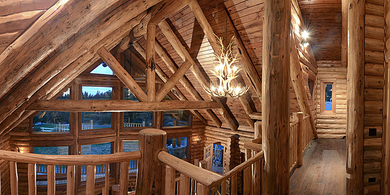 Log home rafters